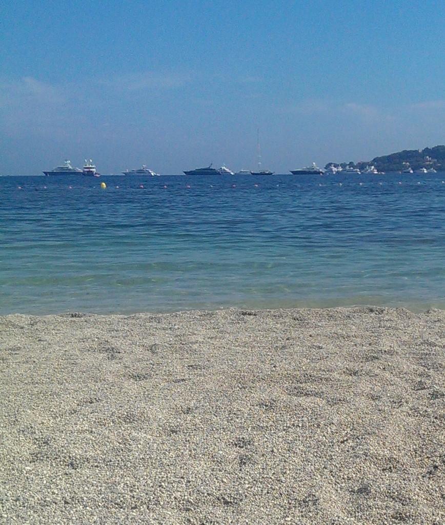 Am Strand der côte d'azur