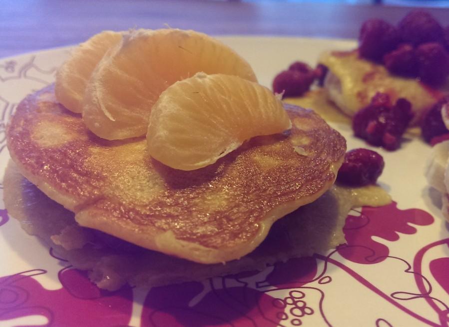 Protein Pancake mit Clementinen