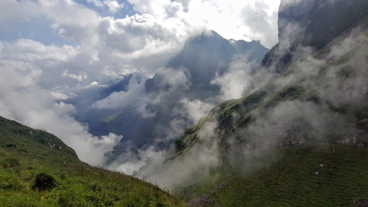 Nebelschwaden im Alpstein