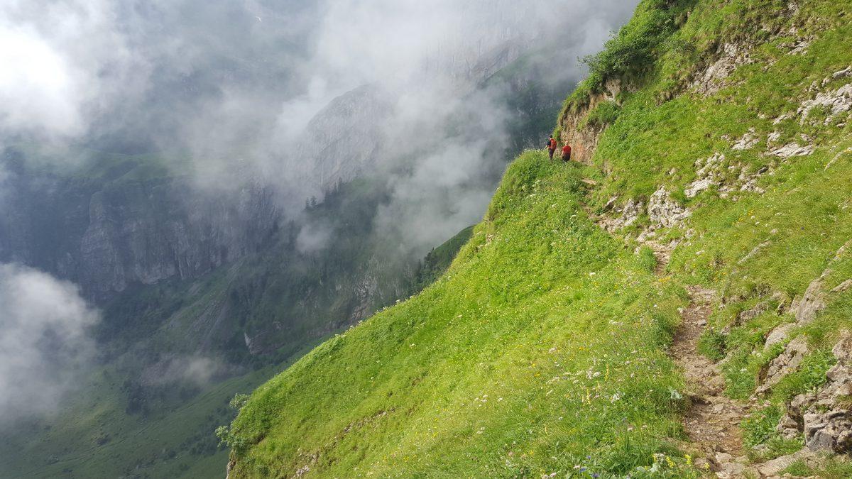Wanderweg zwischen Messmer und Altenalp