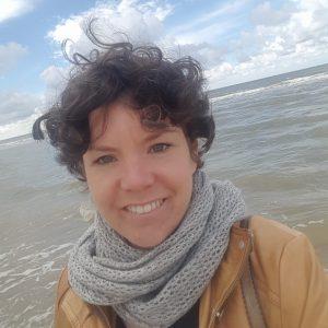 Rahel am Meer von Zandvoort