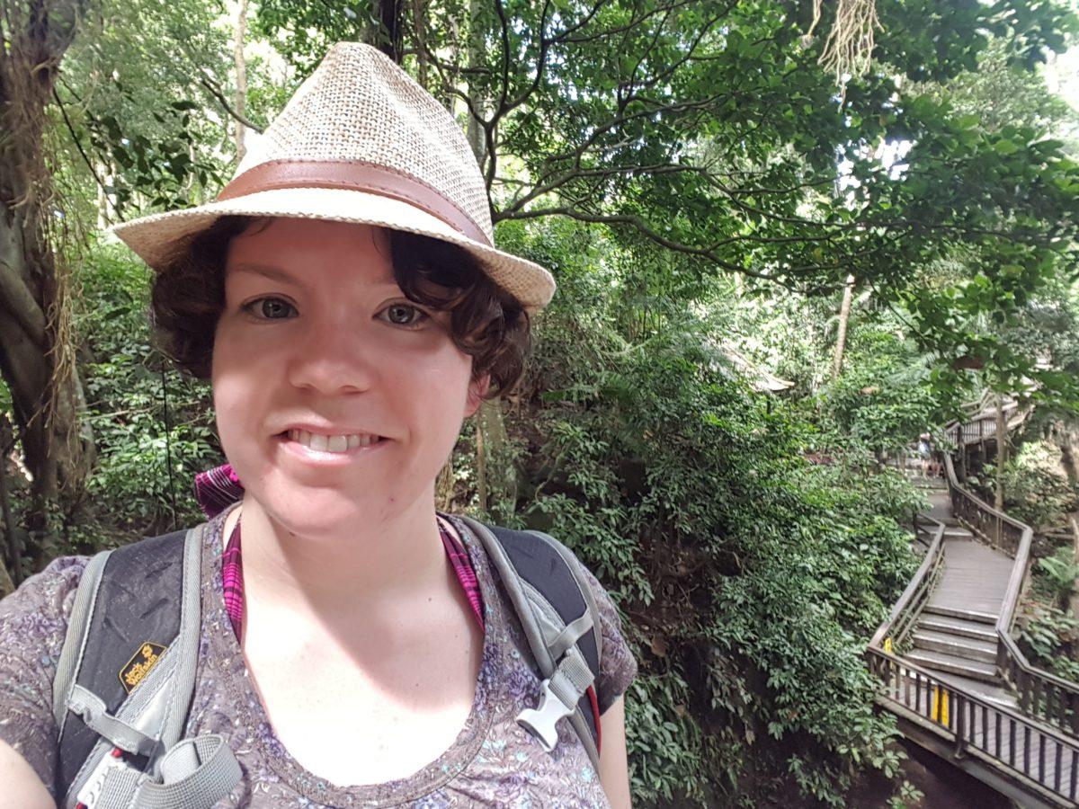Rahel im monkey forest, Ubudd